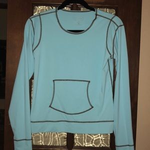 Athleta Swim Top long sleeve Turquoise